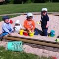 Sandkasten, Kindergarten, Spielplatz